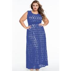 Kék maxi plus size ruha