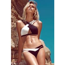 Cikkcakkos Fekete-Fehér Bikini