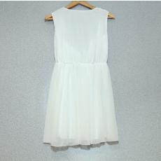Fehér ujjatlan mini ruha- Egy méret