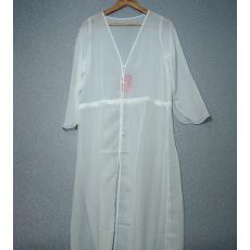 Fehér gombos hosszított ruha- Egy méret