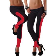 Piros betétes Fekete Leggings