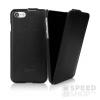 Caseual Leather Flip Apple iPhone 7 Italian Black bőr flip tok, fekete