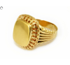 Galériás férfi arany pecsétgyűrű gyűrű