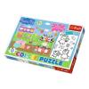 Peppa malac kétoldalú színezhető 20db-os Maxi puzzle