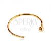 Orr piercing 585 sárga aranyból - fényes karika golyóval a végén