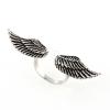 """""""Angyali Szabadság"""" (""""Angelic Freedom"""") antikolt ezüst gyűrű, amelynek mérete tetszőlegesen állítható"""