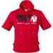 Gorilla Wear Boston Hoodie Short Sleeve (piros) (1 db)