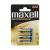 MAXWELL Mikroceruza elem AAA, LR03 XL Super Alkaline, 1,5V 4 db/bliszter (Elem)