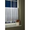 Fehér hímzett vitrage batiszt függöny, levendulás, Tihany méterben/0016/Cikksz:01320019