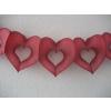 Szív alakú papír girland