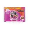 Whiskas Junior alutasakos eledel húsos válogatás mártásban 4 x 100 g