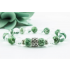 BBH Inspiration Lelki harmónia karkötő zöld pettyes jádéból és hegyikristályból
