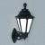 Fumagalli BISSO/RUT kültéri fali lámpa E27 fekete - opál (Lámpa)