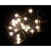 Karácsonyi dísz - Hó csillag - 20 LED meleg fehér