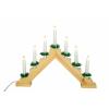 Karácsonyi dísz - Hagyományos fa gyertyatartó - 7 LED dióda, meleg fehér