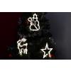 Karácsonyi dekoráció ablakra - csillág, hóember, rénszarvas LED
