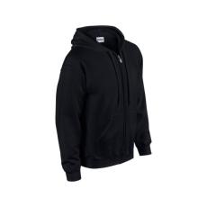 GILDAN cipzáros pulóver kapucnival, fekete