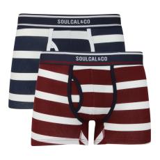 SoulCal Block Stripe férfi alsónadrág szürke S