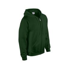 GILDAN cipzáros pulóver kapucnival, sötétzöld
