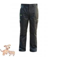 Julius-K9 K9 pamut nadrág, fekete-neon, cipzározható szárral - impregnált, - méret 60