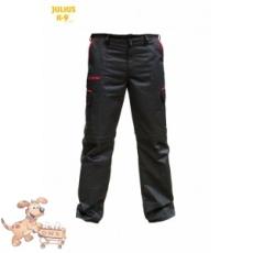 Julius-K9 K9 pamut nadrág, fekete-piros, cipzározható szárral - impregnált, - méret 50