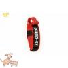 Julius-K9 K9 textil fogós nyakörv feliratmezővel - 50 mm széles, színe piros