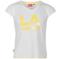 LA Gear gyerek póló - Large Logo V Neck - LA Gear Large Logo V Neck TShirt Girls