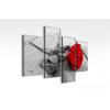 Byhome Digital Art vászonkép   2022Q grigio rosa quatri S