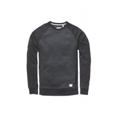 Globe férfi pulóver Quilted Crew M fekete