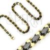 Arany - fekete acél nyaklánc