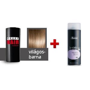 Cover Hair Volume hajdúsító, 30 g, világosbarna + kötést erősítő spray
