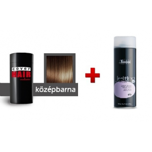 Cover Hair Volume hajdúsító, 30 g, középbarna + kötést erősítő spray