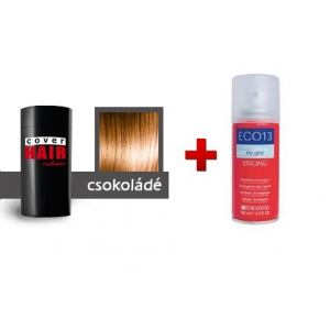 Cover Hair Volume hajdúsító, 30 g, csokoládé (vöröses barna) + kötést erősítő spray