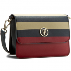 Tommy Hilfiger Táska TOMMY HILFIGER - Honey Flap Crossover Stripe AW0AW03262 901