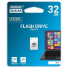 """Goodram Pendrive, 32GB, USB 2.0, 20/5Mb/sec, mini, GOODRAM """"UPI2"""", fehér"""