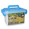 Kültéri vezérlős LED Fényfüzér 176 db / 9 m SZÍNES LED-del