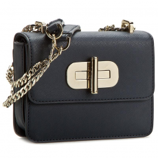 Tommy Hilfiger Táska TOMMY HILFIGER - Turn Lock Mini Crossover Solid AW0AW03377 001