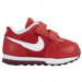 Nike MD Runner 2 gyerek sportcipő, University Red/White, 32 (807317-602-1y)