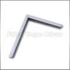 FDU Metall fali konzol Nehéz konzol 30cm Fehér