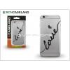 BCN Caseland Apple iPhone 7 Plus szilikon hátlap - BCN Caseland Love Firma - transparent