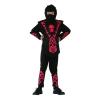 ninja jelmez fekete, piros díszítéssel (130-140 méret)