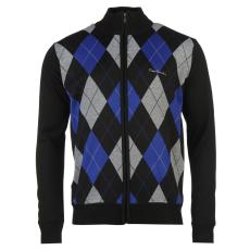 Pierre Cardin Férfi cipzáras kötött pulóver fekete XXL