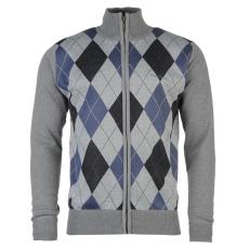Pierre Cardin Férfi cipzáras kötött pulóver kék L