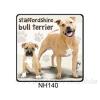 Staffordshire Bull Terrier kutyás hűtőmágnes