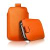 SLIM-CASE-IPH4-O, iPhone 4/4S méretű slim bőr tok, Narancs