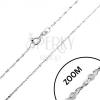 925 ezüst nyaklánc - tekert vonal, spirálisan összekapcsolt szemek, 1,2 mm