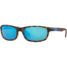 Ray-Ban RJ9056 702555 MATTE HAVANA FLASH BLUE napszemüveg