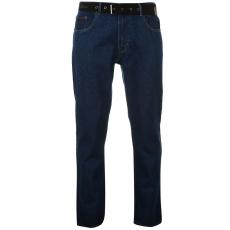 Pierre Cardin Férfi farmernadrág övvel kék 36W L