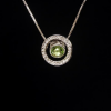 Kerek zöld Swarovski kristályos nyaklánc