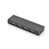 Ednet Hub 4-port USB 2.0 HighSpeed, Power Supply, black